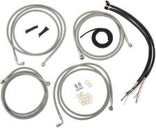 LA Choppers Midnight Black Mini Apes Cable Wire Kit 2008-2013 Harley FL w/ ABS