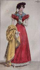 COSTUME PARISIEN, GRAVURE ORIGINALE DE 1823, COLORIS D'EPOQUE, n°2149