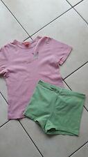 Sanetta ✿ Shorty kurzer Schlafanzug 116 122 128 ✿ rosa grün Schmetterling Sweet