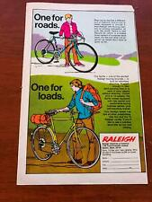 1973 VINTAGE 6.5x10 PRINT AD FOR RALEIGH 5/10 SPEED BICYCLE RECORD 24+THE SPRITE