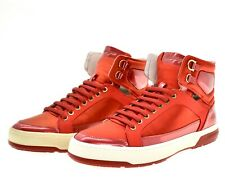 Salvatore Ferragamo Nigel High Top Sneaker Red Size 9.5 New