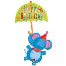 "CIRCUS PARTY SUPPLIES 57"" HAPPY BIRTHDAY ELEPHANT ANAGRAM SUPERSHAPE BALLOON"
