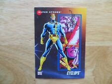1992 MARVEL UNIVERSE III CYCLOPS CARD SIGNED BY ARTIST LEE WEEKS,WITH POA