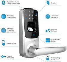 Ultraloq Touchscreen Fingerprint Bluetooth Keyless Entry Door Smart Lock Home