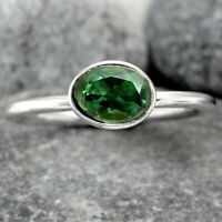 Natural Chrome Diopside 925 Sterling Silver Ring Jewelry s.9 SDR88050