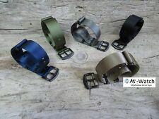 Nato seatbelt Nylon PVD Black Blue Green Grey Khaki Watch Strap 18,20,22,24mm