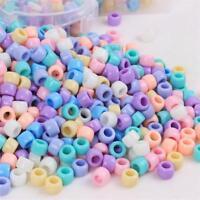 200pcs Acrylic Beads Large Hole Candy Kids DIY Necklace Bracelets Jewelry Making