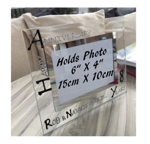 Personalised/Non personalised 8th Anniversary Picture Photo Frames Land