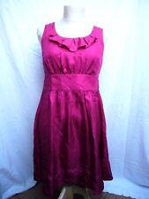 Jacob Pink 100% Silk Summer Dress Ribbon Belt Size 6