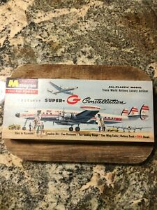 Monogram 1957 Lockheed Super-G Constellation TWA Model Airplane Kit