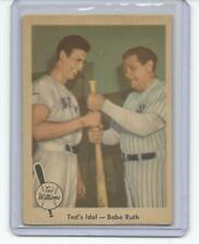 1959 Fleer #2 TED WILLIAMS IDOL BABE RUTH EX Yankees Red Sox Old Baseball Card