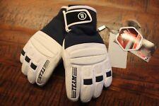 BOGNER Billy Cuir Enfants gants bleu marine blanc taille 5 S NEUF