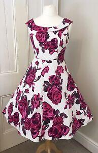 50s Vintage Style Floral Print Cotton Dress, BNWOT