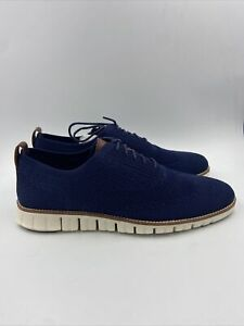 Cole Haan Mens Oxford Marine Blue /ivory Shoes Size 11 M , 278