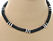 18 inch (46cm) Puka Shell Black Coconut Beads Necklace SUP SURFER HAWAIIAN BoHo