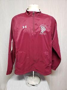 Fordham University Prep Track & Field Adult Medium Burgundy Windbreaker Jacket