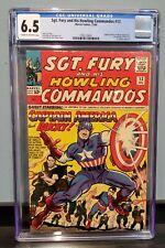 SGT FURY & HIS HOWLING COMMANDOS #13 CGC 6.5 1ST MEETING OF NICK FURY & CAP 1964