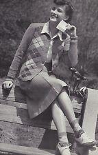 Vintage Knitting PATTERN to make 40s Argyle Cardigan Sweater Socks ArgyleSweater