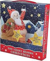 Christmas Activity - THE NIGHT BEFORE CHRISTMAS BOOK AND JIGSAW GIFT SET - New