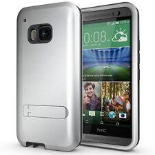Coque Housse Pour HTC One M9 Antichoc Armor Defender 3 Gris Acier