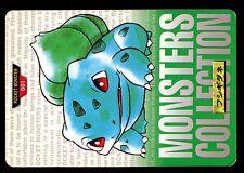 POKEMON BANDAI 1996 GREEN MONSTERS COLLECTION N°    1 BULBASAUR BULBIZARRE