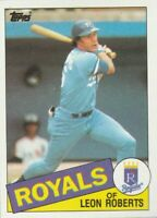 FREE SHIPPING-MINT-1985 Topps #217 Leon Roberts Royals PLUS BONUS CARDS