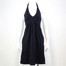 Victoria's Secret Womens Dress M Navy Tie Halter V-Neck Built In Bra Pockets