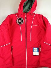 Columbia Thermal Coil Jacket Womens XL Waterproof Snow Daze Lined Ski NEW Hooded