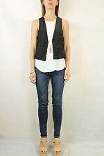 VINTAGE 80s Black Vest with Charm Size S 10