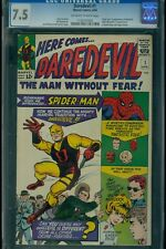 Daredevil #1 CGC 7.5 Offwhite-White Pages UNRESTORED 1st Matt Murdock Page Foggy