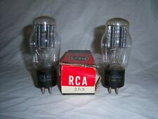 Strong 88% Matched Pair of Vintage RCA 2A3 Vacuum Tubes w/ 1 Box