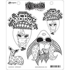 New Dyan Reaveley Ranger rubber stamp Cling Set Dylusions OH DEER! ALTERED