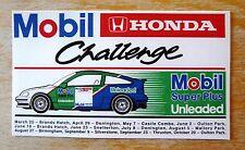 1990 Mobil Honda CRX Challenge Racing Motorsport Sticker Decal