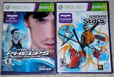 XBox 360 Game Lot - KINECT Michael Phelps Push the Limit & Winter Stars (New)