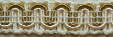 """36 Yds Wheat/Old Gold Scroll Gimp 1/2"""" Conso Y28 Upholstery Two-toned Conso Trim"""