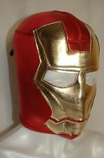 IRON MAN WRESTLING-LUCHADOR MASK!! red/gold, GREAT FOR HALLOWEEN!! HANDMADE!!!!