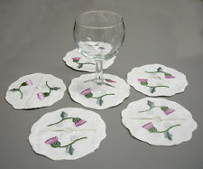 C470  Embroidered Thistle Wine Glass Slippers Gift Scotland Celtic Shoe Cover