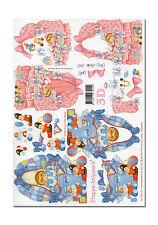 3D Bogen Motivbogen Etappenbogen Bastelbogen Babywiege Wiege Igel (005)