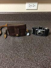 Vintage KODAK Bantam 828 folding film camera  w/ original leather case.
