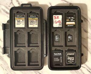 Pelican 0915 Water Resistant Memory SD Card Case  - W/ 4x 32GB SD & 32GB+8 Micro