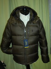 NWT POLO RALPH LAUREN Performance mens dark loden down puffer hood jacket S $295