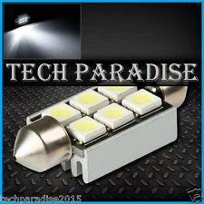 2x Ampoule Navette 36mm C3W C5W C7W C10W 6 LED Anti erreur CanBus Blanc White