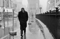 Framed Print - James Dean Walking the Rainy Streets (Classic Hollywood Picture)