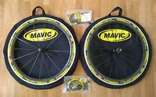 NEW Mavic Cosmic Carbone SL 700c Carbon Clincher Wheel Set Bags Skewers NEW