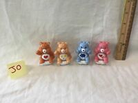 Lot Of 4 Care Bears Plastic Figures Vintage Play Along Toys cake topper