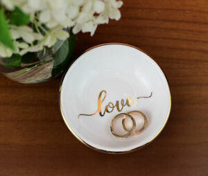 Ring Holder Dish Jewellery Trinket Bowl Stand Wedding Pillow Alternatives Love