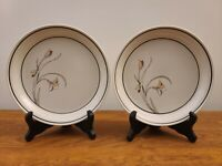 "Set of 2 Nitto Meadow Stone Ming Garden 9188 Japan 7 7/8"" Salad Plates"