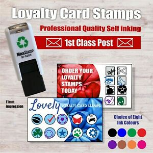 Custom made Loyalty Card Stamp - Self Inking  11x11mm Square MaxStamp SI-5205