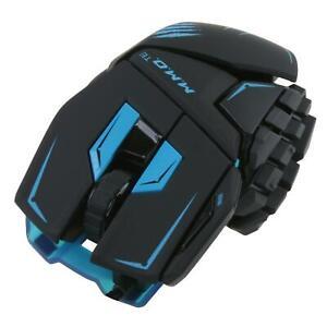 Mad Catz Gaming Maus für PC M.M.OTE Kabelgebunden MMOTE Blau 8200 DPI