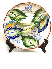 TIFFANY & Co./ESTE CERAMICHE White/Multicolor Leaves & Leeks Decorative Plate